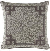 Jane Wilner Designs Bally Leopard-Print w/ Fretwork Decorative Pillow