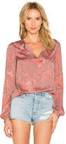 House Of Harlow x REVOLVE Seymore Blouse in Pink. - size M (also in S,XS)