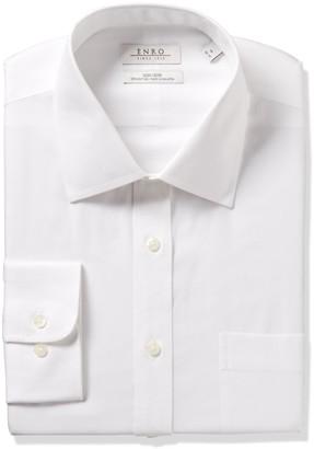 Enro Men's Classic Fit Big-Tall Solid Spread Collar Dress Shirt