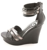 G by Guess Women's Diala Platform Wedge Sandals.