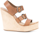 Pedro Garcia wedge sandals - women - Leather/Suede - 36