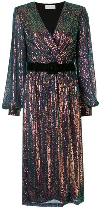 Rebecca Vallance Sequin Embellished Midi-Dress