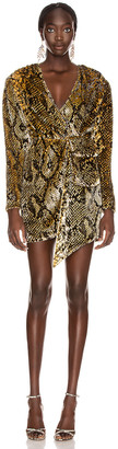 retrofete Eleanor Dress in Gold Snake | FWRD