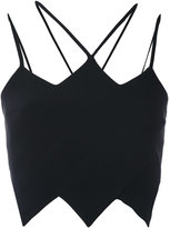 David Koma jagged strappy crop top