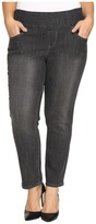 Jag Jeans Plus Size Amelia Pull-On Slim Ankle Comfort Denim in Thunder Grey