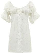 Rat & Boa - Off-the-shoulder Metallic Fil Coupe Mini Dress - Ivory