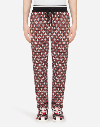 Dolce & Gabbana Jogging Pants In Crepe With Print