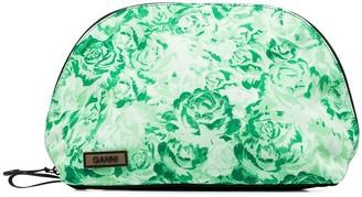Ganni Floral-Print Zipped Pouch