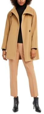 Marella Funnel-Neck Wool-Blend Coat