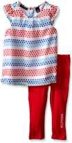 Tommy Hilfiger Baby Girls' Printed Chiffon Tunic and Jersey Legging