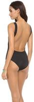 Norma Kamali Low Back Mio One Piece Swimsuit