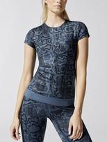 adidas by Stella McCartney Knitted Snakeskin-Effect Tee