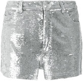 IRO metallic sequin shorts - women - Cotton/Spandex/Elastane/Viscose - 38