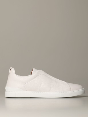 Ermenegildo Zegna Triple Stitch Light Sneakers In Deerskin