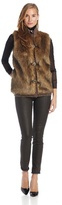 Calvin Klein Women's Faux Fur Sweater Vest
