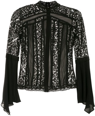 Martha Medeiros High Neck Blouse