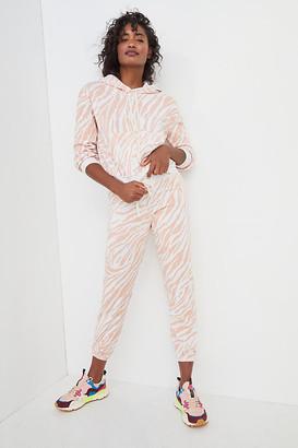 Sundry Erin Zebra-Striped Joggers By in White Size XS