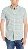 Nautica Men's Check Seersucker Short Sleeve Shirt