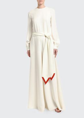 Valentino Silk Logo Jumpsuit