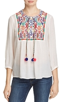 Cupio Embroidered Peasant Blouse