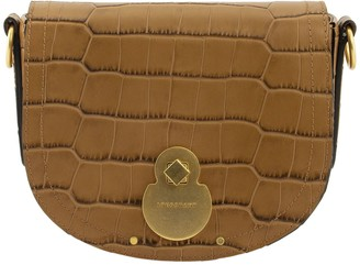 Longchamp Crossbody Bag Cavalcade Croco Camel
