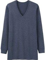 Uniqlo Men's HEATTECH Long Sleeve V-Neck T-Shirt