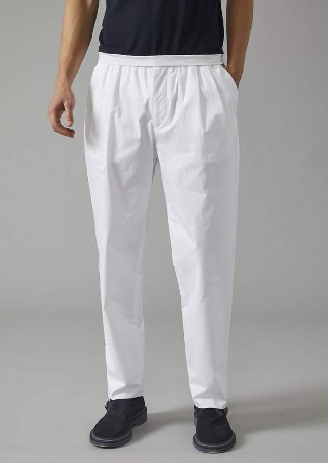Giorgio Armani Cotton Trousers With Darts