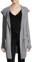 Qi Fur Pocket Hooded Cashmere Cardigan