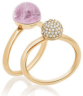 Michael Kors Pave & Amethyst Stacked Ring Set