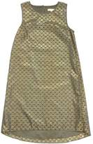 Erin Fetherston Olive & Gold Polka Dot Dress
