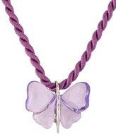 Lalique Crystal Papillon Pendant Necklace