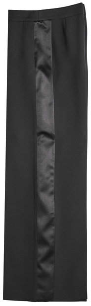 Alexander McQueen Wide-Leg Pants with Wool and Silk