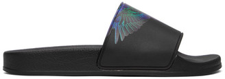 Marcelo Burlon County of Milan Black and Blue Wings Slides