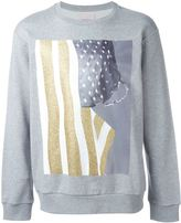 Palm Angels USA flag print sweatshirt