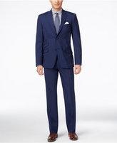 Tommy Hilfiger Men's Medium Blue Sharkskin Classic-Fit Suit