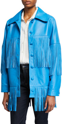 Dan Cassab Loretta Lamb Leather Fringe Jacket