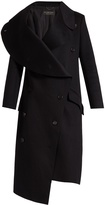 Burberry Asymmetric double-faced wool coat