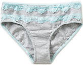 Copper Key Big Girls 7-16 Basic Double Lace Panty