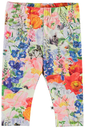 Molo Girl's Stefanie Floral and Animal Printed Leggings, Size 6M-2