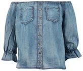 Momo Fashions Ladies Gypsy Button Front Bardot Top CA Size 6-12