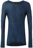 Avant Toi raw-edge detail jumper
