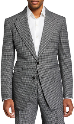 Tom Ford Men's Windsor Peak Gingham Wool Two-Piece Suit