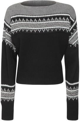 Philosophy di Lorenzo Serafini Intarsia Wool Knit Sweater
