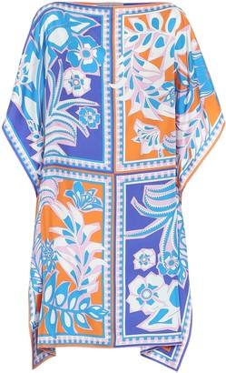 Emilio Pucci Beach Printed silk kaftan