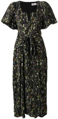 Preen by Thornton Bregazzi floral print midi dress