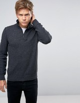 BOSS ORANGE By Hugo Boss Kwemare Half Zip Sweater Rib Neck Knit