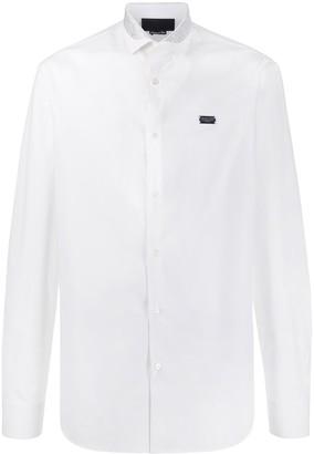 Philipp Plein Thunderbolt Logo Long Sleeve Shirt