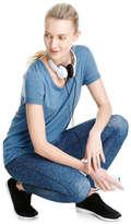 Joe Fresh Women's All Over Print Active Legging, JF Midnight Blue (Size M)