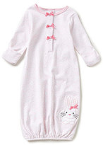 Starting Out Baby Girls Newborn-6 Months Floral Bunny-Applique Gown