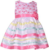 Bonnie Jean Sleeveless Pink Ribbon Dress - Baby Girls